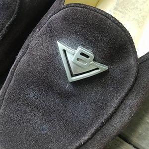 Vintage Bottega Veneta Logo Leather Loafers